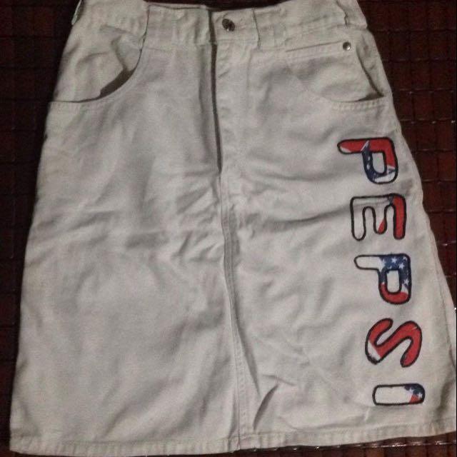 White Pepsi Skirt