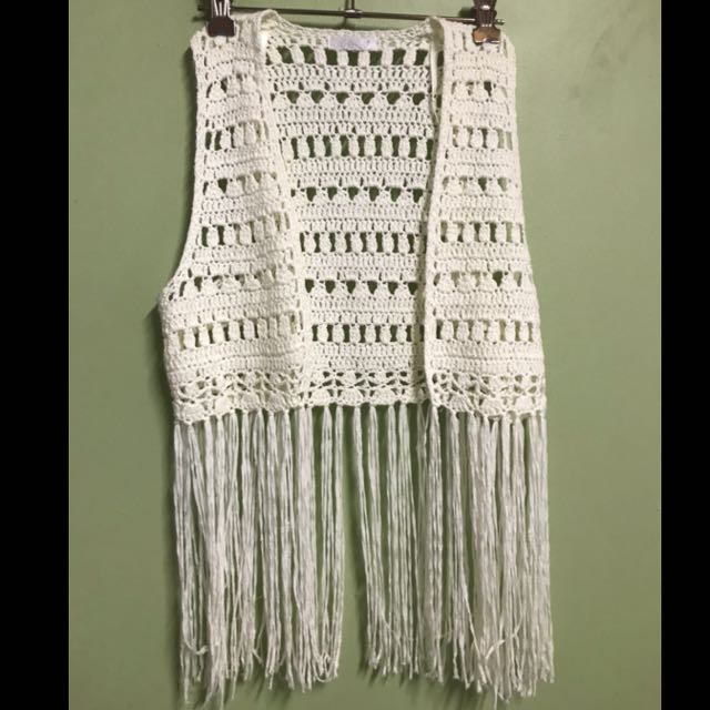 White/cream knitted vest top