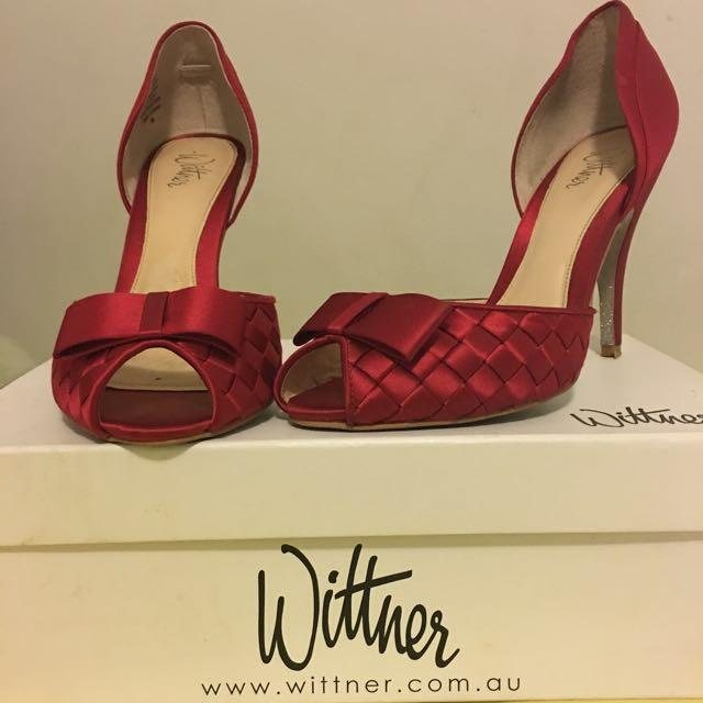 Wittner Red Satin Heels
