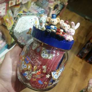 原裝 日本 Disney sea 園內限定 Duffy Shelliemay Stellalou Gelatoni Xmas 玻璃樽 茶葉包