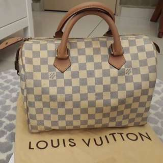 AUTHENTIC LOUIS VUITTON AZUR SPEEDY 30