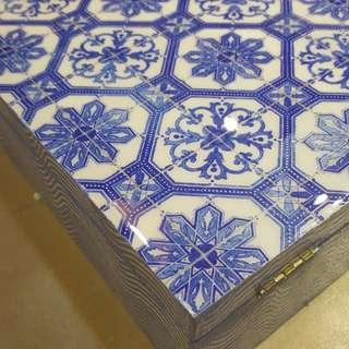 Resin wooden box