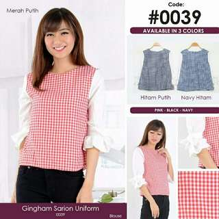 Gingham Foxy Blouse