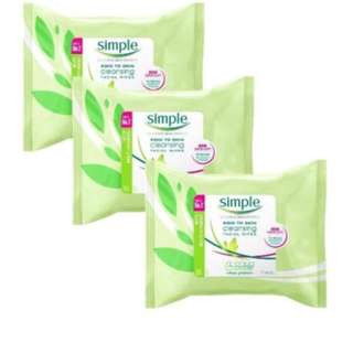 Simple Micellar Cleansing Wipes