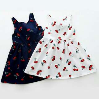 Girl pattern cotton dress