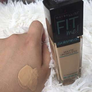 MAYBELLINE FIT ME foundation (warm nude 128)