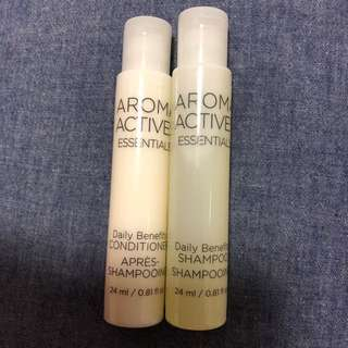 Brand new, unopened Aroma Actives shampoo and conditioner