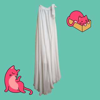 🎄White Halter Chiffon Dress