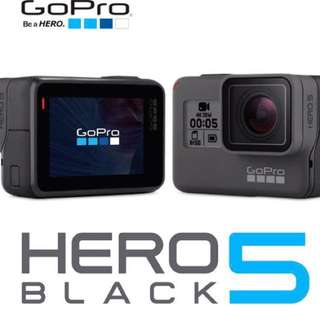 GoPro Hero5 with free screen protector & local warranty