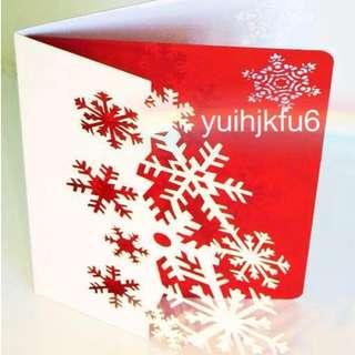 獨一無二 客製 純手工立體紙雕卡片 🎀 繽紛雪花 🎀 聖誕卡 情人節 卡片 生日卡 節慶卡 情人卡 耶誕卡片