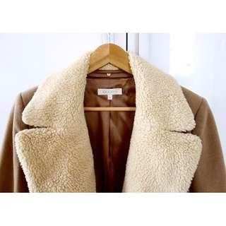 Sandro Faux Sheepskin Coat