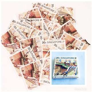 (95pcs) 1990 Old Stamps