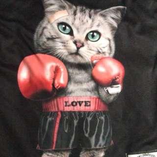 Super cut Cat Boxing Tee
