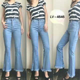 Jeans Highwaist Cutbray light blue