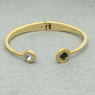 Kate Spade New York Sample Bangle 黑金色手鈪