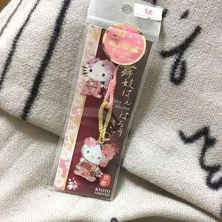 Hello kitty。京都限定吊飾
