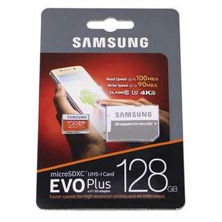 Samsung EVO Plus Micro SD SDXC 128G 128GB Class 10 100MB/s