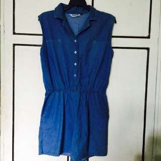 New Look Chambray Romper