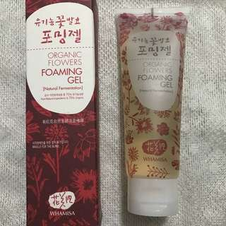 Whamisa Organic flowers foaming gel face wash skincare