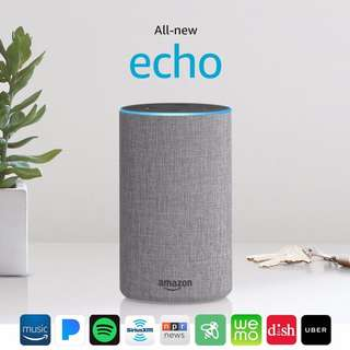 (SALE-PO) Echo Gen 2 - Heather Gray Fabric