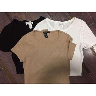 Forever21 basic bodysuits (Set of 3)