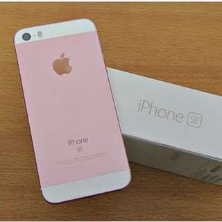 99%new Full set  iPhone SE 64GB rose gold