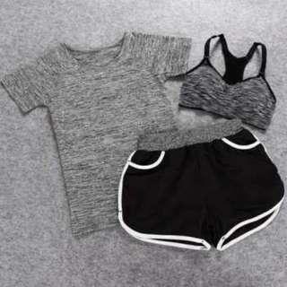 Set Baju Celana Bra Olahraga Wanita