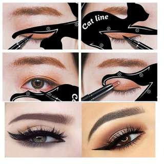 2pcs set cat design for eyes makeup