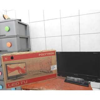 Led Tv Polytron Bazzoke PLD20D900 Hdmi Usb Movie Fresh Katapang Soreang