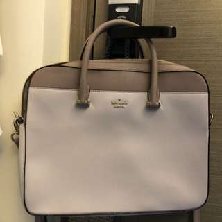 "Kate Spade purple leather 15"" Laptop bag"