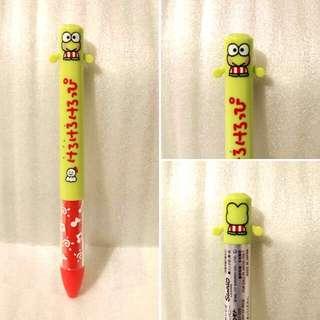 (現貨) Sanrio Keroppi 青蛙 mimi兩色筆