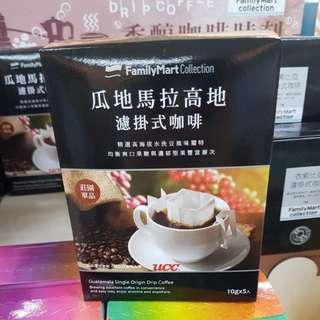 ✈大玩台灣代購✈台灣FamilyMart聯乘UCC系列濾掛式咖啡5入/盒