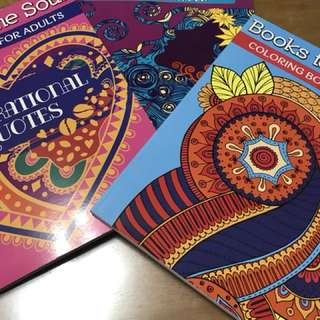 3pcs Coloring Books for Adults