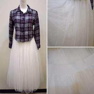 全新 / 二手 / 超澎純白紗裙 / 棉質格子包臀裙 / PAZZO / 一件💲200