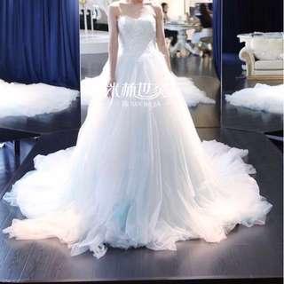 婚後物資 婚紗 禮服 淡藍色 pre-wedding 包婚紗套