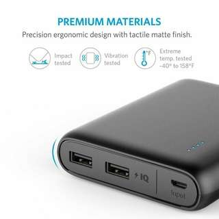 Anker PowerCore 13000 Portable Charger - Compact 13000mAh 2-Port Ultra Portable Phone Charger Power Bank with PowerIQ Technology