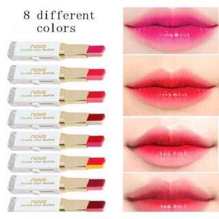 Sale!!! Korea novo double lipstick