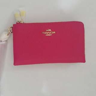 Authentic Coach Double Corner Zip Wallet
