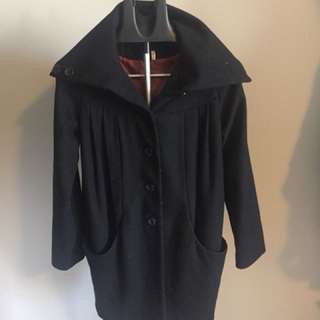 H&M Oversized Black Jacket Coat