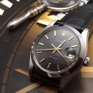 Exquisite 34mm Rolex Oysterdate 6694 In Dark Grey