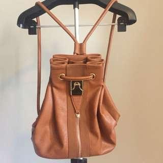 Bucket backpack bag