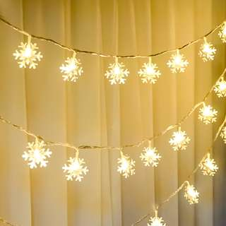 Snowflake Battery-operated String Light (6 metres)