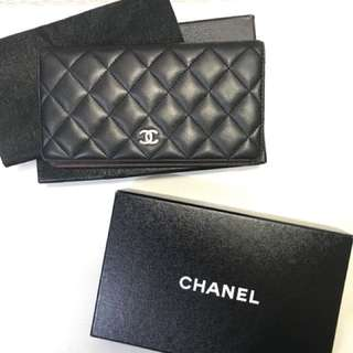 AUTHENTIC CHANEL CLASSIC  LAMBSKIN BI-FOLD WALLET