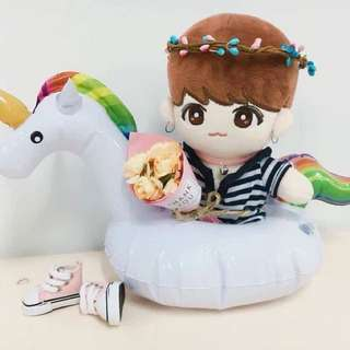 BTS EXO 20CM DOLL Unicorn Floaty
