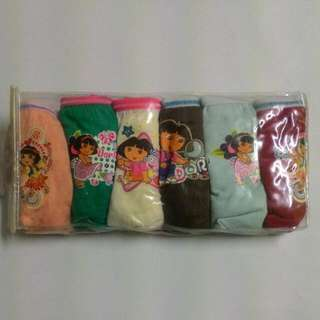 6pcs Dora Girl Panties 3-4years