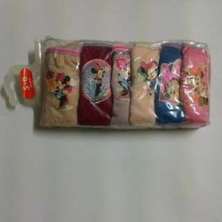 6pcs Minnie Girls Panties 5-6 Years