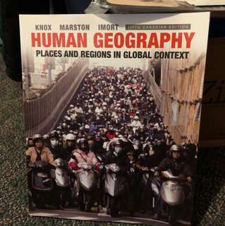 GEOG*1200 Human Geography: Places and Regions in Global Context, 5th edition