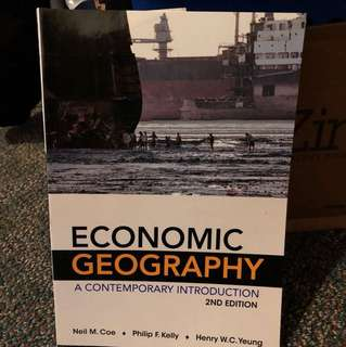 GEOG*2230 Economic Geography: A Contemporary Introduction, 2nd edition