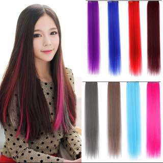 🔥[FAST PO] Korean Ulzzang Clip Gradient Multi-Colours Straight Hair Extensions