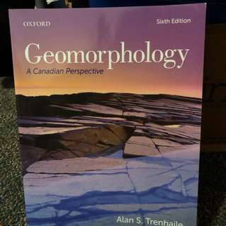 GEOG*2000 Geomorphology: A Canadian Perspective, 6th edition